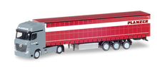 """HERPA 1:87 - Mercedes-Benz Actros Gigaspace container semitrailer """"Planzer"""" (CH)"""