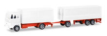 HERPA 1:87 - MiniKit: Ford Transconti canvas cover trailer, white