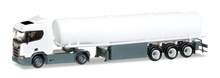 HERPA 1:87 - Minikit: Scania CR 20 ND fuel tank semitrailer, unprinted