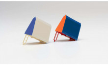 HERPA 1:87 - Roof tent for Trabant/Wartburg, 2 pieces (orange/blue and white blue)