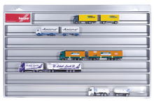 HERPA 1:87 - Showcase for trailer, silver (overlength: 27.5 in x 17.7 in. x 1.4 in.)