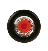 HERPA 1:87 - Special wide tires for truck front axle (chromium / red, 8 sets)