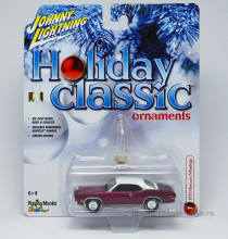 JOHNNY LIGHTNING 1:64 - MERCURY MONTEGO 1971 *HOLIDAY CLASSIC ORNAMENTS* CANDY MAGENTA