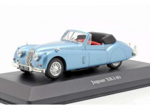 MAGAZINE MODELS 1:43 - JAGUAR XK140 ROADSTER 1957, LIGHT BLUE
