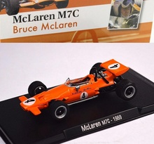 MAGAZINE MODELS 1:43 - MCLAREN M7C 1969 #4 'BRUCE MCLAREN', ORANGE