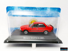MAGAZINE MODELS 1:43 - RENAULT 18 GTX II RED UNFORGETABLE CARS - ARGENTINA