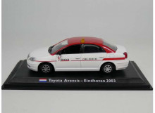 MAGAZINE MODELS 1:43 - TOYOTA AVENSIS 2003 *EINDHOVEN TAXI*, WHITE/RED