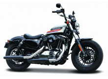 MAISTO 1:18 - HARLEY DAVIDSON FORTY EIGHT SPECIAL, WHITE/BLACK