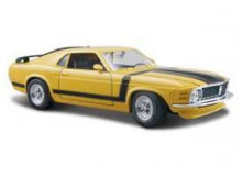 MAISTO 1:24 - FORD BOSS MUSTANG 1970 *SPECIAL EDITION*, YELLOW