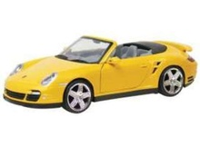 MOTORMAX 1:18 - PORSCHE 911 TURBO CABRIO 2008, YELLOW