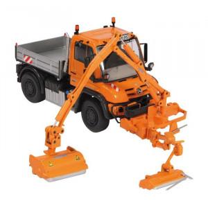NZG 1:50 - Mb Unimog U 400 Mulag Mkm 700, combination mower