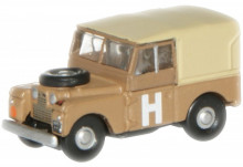 OXFORD 1:148 - LAND ROVER 88 SERIES 1 MILITARY CANVAS TOP 1948, SAND