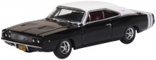 OXFORD 1:87 - DODGE CHARGER 1968, BLACK