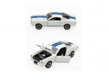 SHELBY COLLECTIBLES 1:64 - SHELBY GT350R 1965, WHITE/BLUE STRIPES