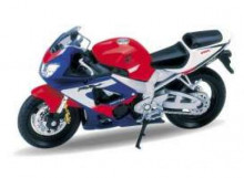 WELLY 1:18 - HONDA CBR900RR FIREBLADE, RED/BLUE