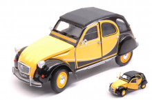 WELLY 1:24 - CITROEN 2 CV 6 CHARLESTON 1982 YELLOW/BLACK