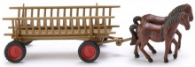WIKING 1:87 - CART WITH HORSES