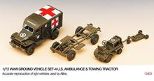 ACADEMY 1:72 - WWII US AMBULANCE & TOWING TRACTOR