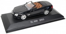 ATLAS 1:43 - MERCEDES BENZ SL 600 CONVERTIBLE (R 230) 2003, BLACK