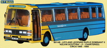 BASE TOYS MODELS 1:76 - LEY LEOPARD - KELVIN SCOTTISH (ROUTE 1)