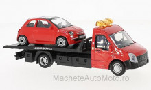 BBURAGO 1:43 - IVECO DAILY TRANSPORT WITH FIAT 500