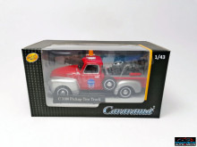 CARARAMA 1:43 - CHEVROLET C1300 BREAKDOWN TOW TRUCK RED/SILVER