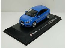 DEALER MODEL 1:43 - SEAT IBIZA SC *IN SEAT DEALER PACKAGING*, BLUE