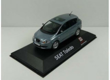DEALER MODEL 1:43 - SEAT TOLEDO 2004-2009 *IN SEAT DEALER PACKAGING*, BLUE GREY
