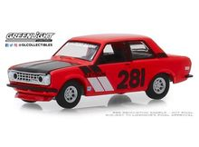 GREENLIGHT 1:64 - DATSUN 510 1970 #281 TURN RIGHT RACING 'TOKYO TORQUE SERIES 6', RED