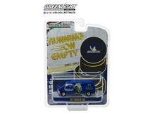 GREENLIGHT 1:64 - DODGE B-100 1977 VAN MICHELIN TIRES 'RUNNING ON EMPTY SERIES 7' BLUE/YELLOW