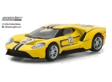 GREENLIGHT 1:64 - FORD GT 2017, 1967 #2 FORD GT40 MK.IV TRIBUTE 'FORD GT RACING HERITAGE SERIES 1' YELLOW/BLACK