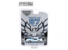 GREENLIGHT 1:64 - PONTIAC FIREBIRD 1978 *MACHO TRANS AM* #87 OF 204 BY MECHAM DESIGN, WHITE AND BLUE