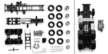 HERPA 1:87 - chassis for tractor Mercdes-Benz Actros 08 3-axle Content: 2 pcs.