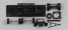 HERPA 1:87 - Chassis for trailer, firm body (7,45m) Content: 2 pcs.