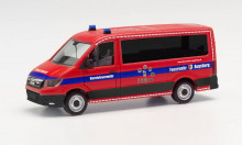 """HERPA 1:87 - MAN TGE bus low roof """"Augsburg fire department"""""""