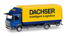 """HERPA 1:87 - Mercedes-Benz Atego canvas truck with liftgate """"Dachser"""""""
