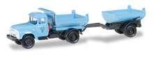 HERPA 1:87 - ZIL 130 Truck-mounted tipper trailer, blue