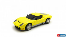 HOTWHEELS 1:43 - 2007 LAMBORGHINI MIURA CONCEPT CAR, YELLOW METALLIC