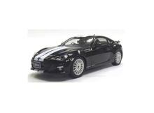 J COLLECTION (KYOSHO) 1:43 - SUBARU BRZ, BLACK WITH WHITE LINE