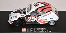 MAGAZINE MODELS 1:43 - CITROEN 2CV RACING CUP 'AUTO PLUS', WHITE/BLACK