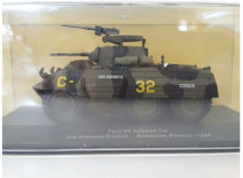 MAGAZINE MODELS 1:43 - FORD M8 ARMORED CAR 1944 2ND ARMORED DIVISION AVRANCHES FRANCE *MILITARY VEHICLES SERIES*, GREEN
