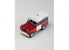 MAGAZINE MODELS 1:43 - LAND ROVER II BOMBEROS-FIRE BRIGADE *BARCELONA*, RED/WHITE