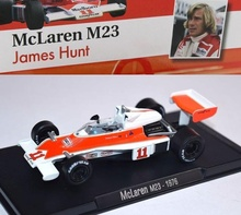 MAGAZINE MODELS 1:43 - MCLAREN M23 1976 #11 'HUNT', WHITE/RED