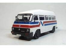 MAGAZINE MODELS 1:43 - ROCAR TV 35 BUSES *LEGENDARY CARS* WHITE/RED/BLUE