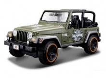 MAISTO 1:27 - JEEP WRANGLER RUBICON WITH HARLEY DAVIDSON GRAPHICS