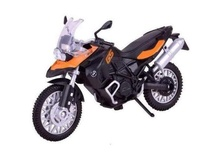 MOTOR MAX 1:18 - BMW F800GS, ORANGE/BLACK