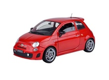 MOTOR MAX 1:18 - FIAT 500 ABARTH, RED