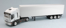 NEW RAY 1:43 - IVECO STRALIS 40 CONTAINER WHITE