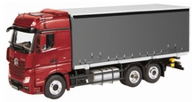 NZG 1:50 - Mercedes Actros FH25 6X2 C/Sider - Red