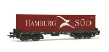 Rivarossi HO (1:87) - DB AG, Sgmms 738, container wagon with 40' container 'Hamburg S?d', epoch V
